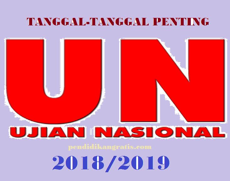 Tanggal-Tanggal  Penting Dalam Pelaksanaan UN 2019