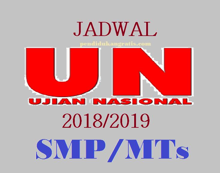 Jadwal UN 2019 untuk SMP/MTs, UNBK dan UNKP