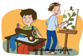 Soal Tematik Kelas 4 Tema 4 Subtema  Pekerjaan di Sekitarku