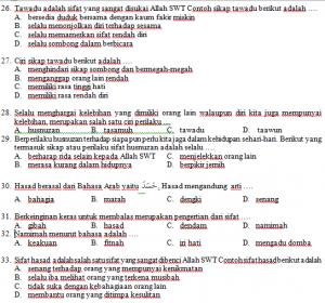 Soal Pat Akidah Akhlak Kelas Viii Semester Genap Mts K 13 Revisi Pendidikangratis Id