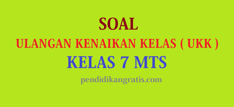 Soal UAS / PAT Semester Genap Quran Hadits Kelas VII MTs. Terbaru