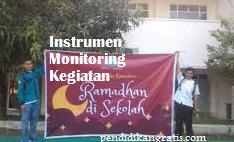 Instrumen Monitoring Kegiatan Ramadhan di Sekolah